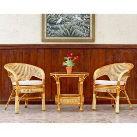 """Комплект кофейный """"ПЕЛАНГИ"""" (Стол + 2 кресла), 02-15-1 К Коньячный Ecodesign, Цвет товара: Коньячный, изображение 5"""