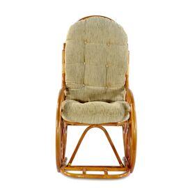 Кресло-качалка с подножкой, 05-11 К (подушка рогожка) EcoDesign, изображение 3