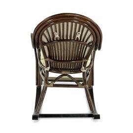 Кресло-качалка с подножкой MARISA-R , 05-12 Б (подушка рогожка) EcoDesign, изображение 3