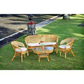 Стол кофейный из ротанга овальный ПЕЛАНГИ, 02-15А 1К коньячный Ecodesign, Цвет товара: Коньячный, изображение 4