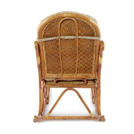 Кресло-качалка с подножкой, 05-11 К (подушка рогожка) EcoDesign, изображение 4