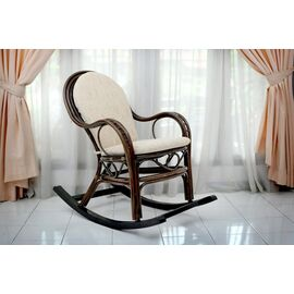 Кресло-качалка с подножкой MARISA-R , 05-12 Б (подушка рогожка) EcoDesign, изображение 4
