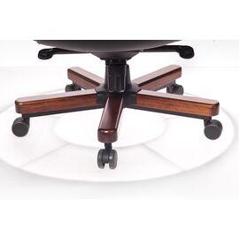 Компьютерное кресло для руководителя Бюрократ T-9923-WALNUT/BLACK черный кожа крестовина дерево, Цвет товара: Черный / Темный орех, изображение 5