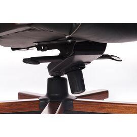 Компьютерное кресло для руководителя Бюрократ T-9923-WALNUT/BLACK черный кожа крестовина дерево, Цвет товара: Черный / Темный орех, изображение 6