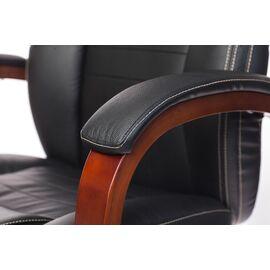 Компьютерное кресло для руководителя Бюрократ T-9923-WALNUT/BLACK черный кожа крестовина дерево, Цвет товара: Черный / Темный орех, изображение 7