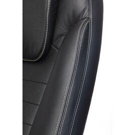 Компьютерное кресло для руководителя Бюрократ T-9923-WALNUT/BLACK черный кожа крестовина дерево, Цвет товара: Черный / Темный орех, изображение 8