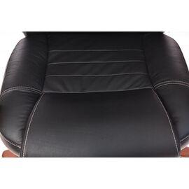 Компьютерное кресло для руководителя Бюрократ T-9923-WALNUT/BLACK черный кожа крестовина дерево, Цвет товара: Черный / Темный орех, изображение 11