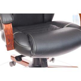 Компьютерное кресло для руководителя Бюрократ T-9923-WALNUT/BLACK черный кожа крестовина дерево, Цвет товара: Черный / Темный орех, изображение 12