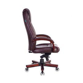 Компьютерное кресло для руководителя Бюрократ T-9923-WALNUT/BROWN коричневый кожа крестовина дерево, Цвет товара: Коричневый/Т.орех, изображение 3