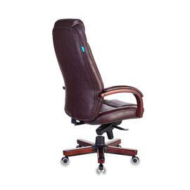 Компьютерное кресло для руководителя Бюрократ T-9923-WALNUT/BROWN коричневый кожа крестовина дерево, Цвет товара: Коричневый/Т.орех, изображение 4