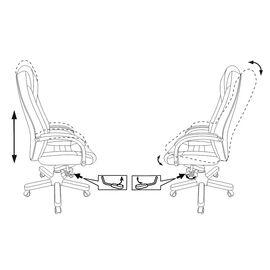 Компьютерное кресло для руководителя Бюрократ T-9923-WALNUT/BROWN коричневый кожа крестовина дерево, Цвет товара: Коричневый/Т.орех, изображение 5
