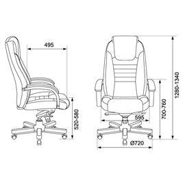 Компьютерное кресло для руководителя Бюрократ T-9923-WALNUT/BROWN коричневый кожа крестовина дерево, Цвет товара: Коричневый/Т.орех, изображение 6