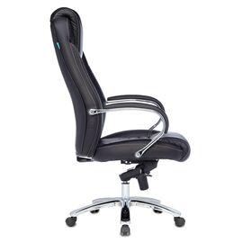 Компьютерное кресло для руководителя Бюрократ T-9923SL/BLACK черный кожа крестовина хром, Цвет товара: Черный/Х, изображение 3