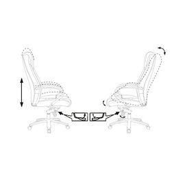 Компьютерное кресло для руководителя Бюрократ T-9923SL/BLACK черный кожа крестовина хром, Цвет товара: Черный/Х, изображение 6