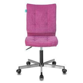 Компьютерное кресло Бюрократ CH-330M/LT-15 без подлокотников малиновый крестовина металл, Цвет товара: Малиновый /Хром , изображение 3