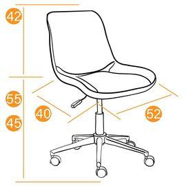 Компьютерное кресло STYLE флок , оранжевый, 18 TetChair, Цвет товара: Оранжевый, изображение 2