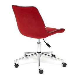 Компьютерное кресло STYLE флок , бордовый, 10 TetChair, Цвет товара: бордовый, изображение 5