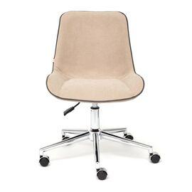 Компьютерное кресло STYLE флок , бежевый, 7 TetChair, Цвет товара: Бежевый, изображение 3