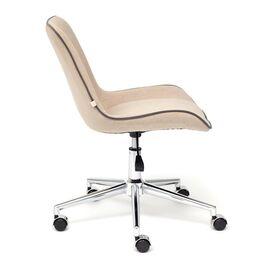 Компьютерное кресло STYLE флок , бежевый, 7 TetChair, Цвет товара: Бежевый, изображение 4
