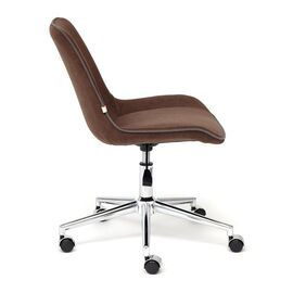 Компьютерное кресло STYLE флок , коричневый, 6 TetChair, Цвет товара: Коричневый (6), изображение 4