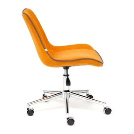 Компьютерное кресло STYLE флок , оранжевый, 18 TetChair, Цвет товара: Оранжевый, изображение 4