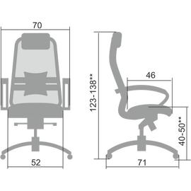 Компьютерное кресло для руководителя Samurai S-1.04 Черный, изображение 2