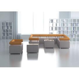 Пуф одноместный M1-1P серии Comfort toForm 650*650*h440, Цвет товара: ART-VISION 111, изображение 5