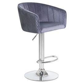 Барный стул LM-5025 серый DOBRIN, Цвет товара: Серый, изображение 2