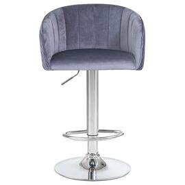 Барный стул LM-5025 серый DOBRIN, Цвет товара: Серый, изображение 4