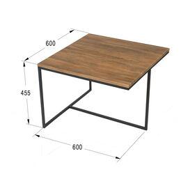 Журнальный стол Симпл Квадро Mebelik дуб американский 600х600х450, изображение 2