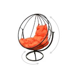 """Вращающееся кресло """"Круглое"""" цвет: Коричневый; подушка: Ультрамарин, Цвет товара: Коричневый/Ультрамарин, изображение 2"""