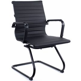 Конференц кресло Everprof Leo Black CF Экокожа Черный