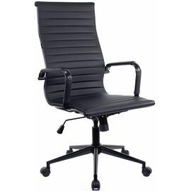 Кресло для руководителя в офис Everprof Rio Black T Экокожа Черный/черный металлКресло для руководителя в офис Everprof Rio Black T Экокожа Черный/черный металл