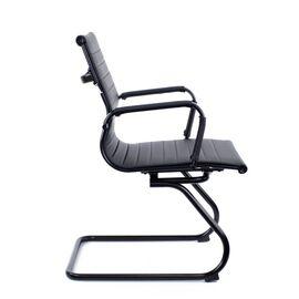 Конференц кресло Everprof Leo Black CF Экокожа Черный, изображение 3