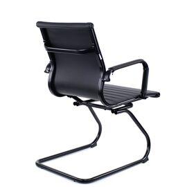 Конференц кресло Everprof Leo Black CF Экокожа Черный, изображение 4