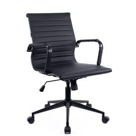 Компьютерное кресло Everprof Leo Black T экокожа черный/ Черный металл, Цвет товара: Ченый/Черный