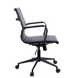 Компьютерное кресло Everprof Leo Black T экокожа черный/ Черный металл, Цвет товара: Ченый/Черный, изображение 4