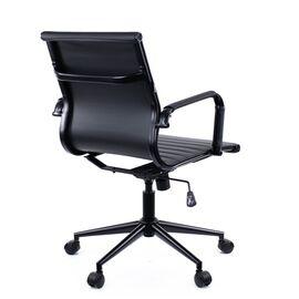 Компьютерное кресло Everprof Leo Black T экокожа черный/ Черный металл, Цвет товара: Ченый/Черный, изображение 5