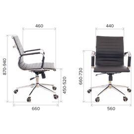 Компьютерное кресло Everprof Leo Black T экокожа черный/ Черный металл, Цвет товара: Ченый/Черный, изображение 3