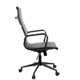 Кресло для руководителя в офис Everprof Rio Black T Экокожа Черный/черный металл