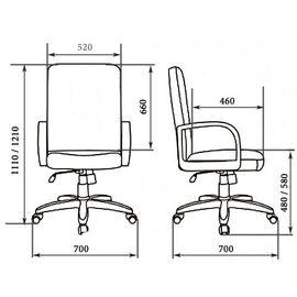 Компьютерное кресло для руководителя VICTORIA А LX (Кожа Люкс) Мирэй Групп, изображение 2