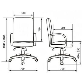 Компьютерное кресло для руководителя BONN A LX Мирэй Групп (Кожа Люкс черного цвета ), изображение 2
