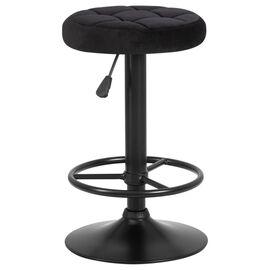 Барный стул LM-5008 Черный велюр/Черный DOBRIN, Цвет товара: Черный, изображение 2