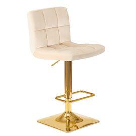 Барный стул LM-5016 бежевый DOBRIN, Цвет товара: Бежевый, изображение 2