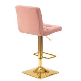 Барный стул LM-5016 пудрово-розовый DOBRIN, Цвет товара: Пудрово-розовый, изображение 4