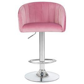 Барный стул LM-5025 розовый DOBRIN, Цвет товара: Розовый, изображение 6