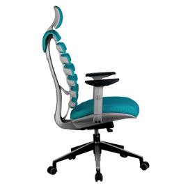 Компьютерное кресло для руководителя Riva Chair Shark Серый пластик/Лазурная ткань (26-30), изображение 3