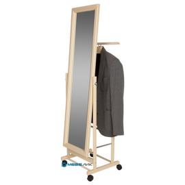 Вешалка костюмная с зеркалом В 24Н Mebelik Слоновая кость 480х350х1370, Цвет товара: Слоновая кость, изображение 3