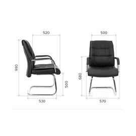 Кресло-конференц Everprof Bond CF Экокожа Бежевый, Цвет товара: Бежевый, изображение 2