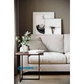 Стол журнальный Бекко Mebelik Серый Мрамор 500х500х500, Цвет товара: Серый мрамор, изображение 3